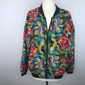 Vintage Silk One-of-a-Kind Floral Jacket Medium